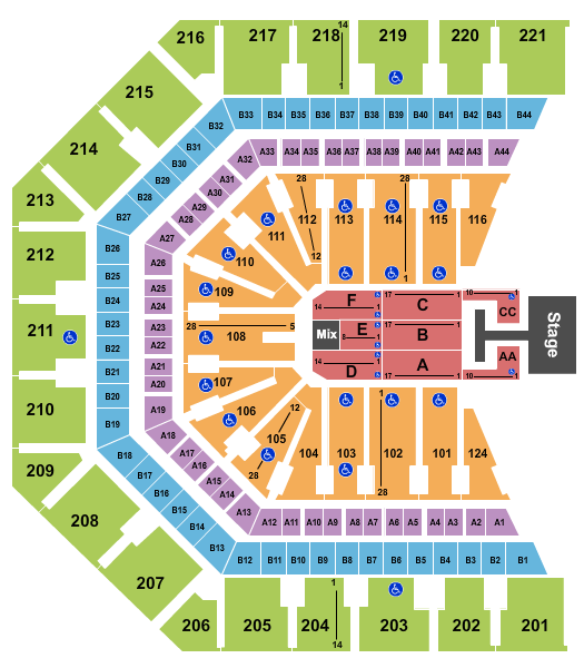 Phoenix Suns Arena Seating Chart