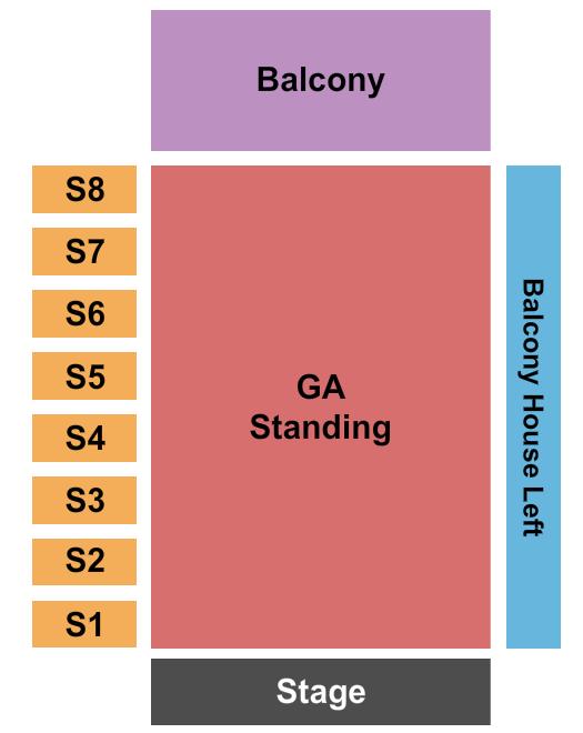 The Factory in Deep Ellum Seating Chart: Dance Gavin Dance