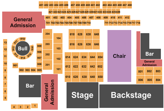 The Canyon Seating Chart