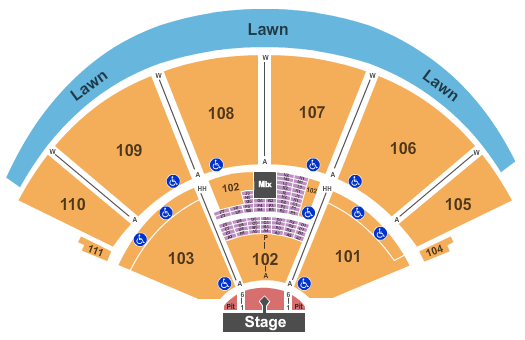 The Cynthia Woods Mitchell Pavilion Seating Chart
