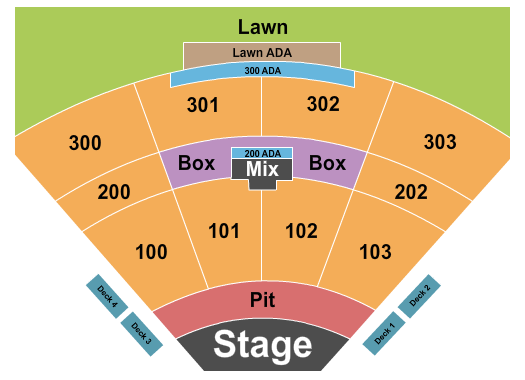 The Pavilion at Toyota Music Factory Seating Chart: Alice in Chains