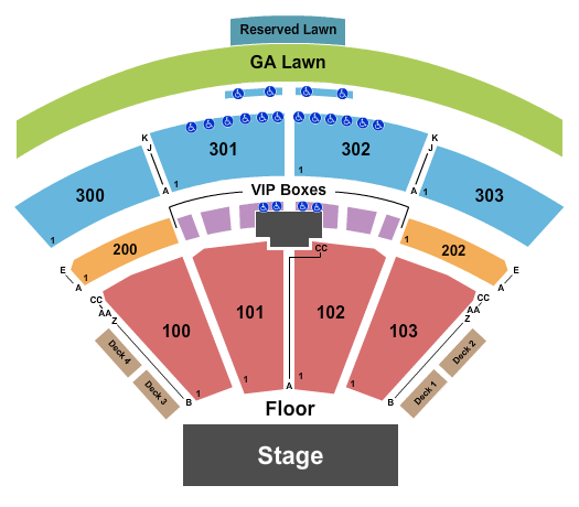 The Pavilion at Toyota Music Factory Seating Chart: Endstage 2