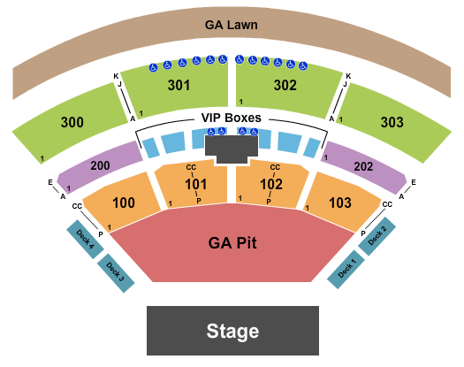 The Pavilion at Toyota Music Factory Seating Chart: Endstage - Half GA Pit