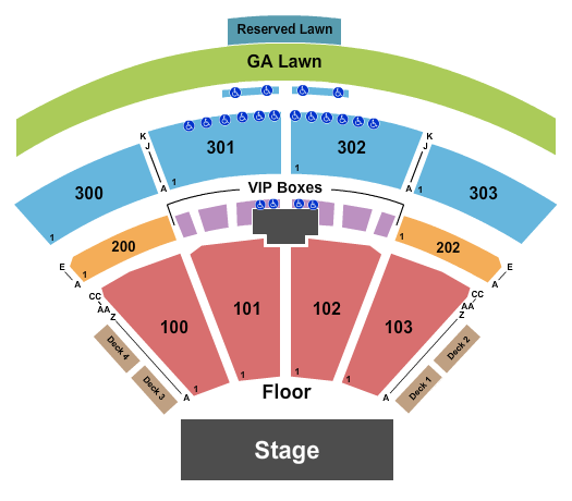The Pavilion at Toyota Music Factory Seating Chart: Endstage