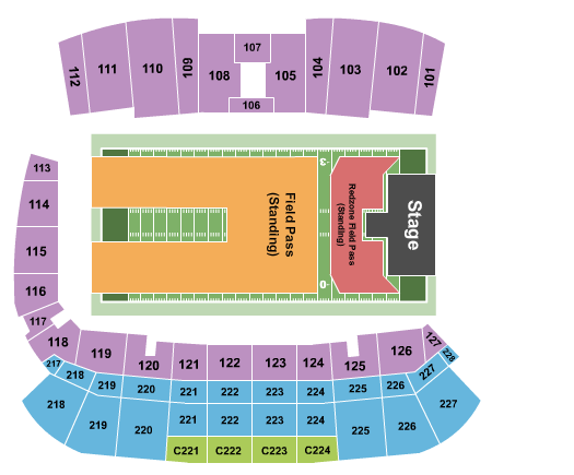 Tom Benson Hall of Fame Stadium Seating Chart