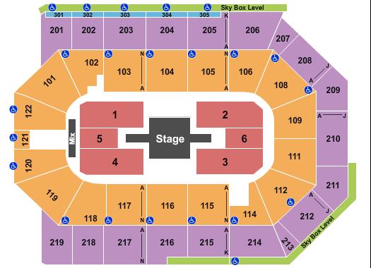 Toyota Arena Seating Chart