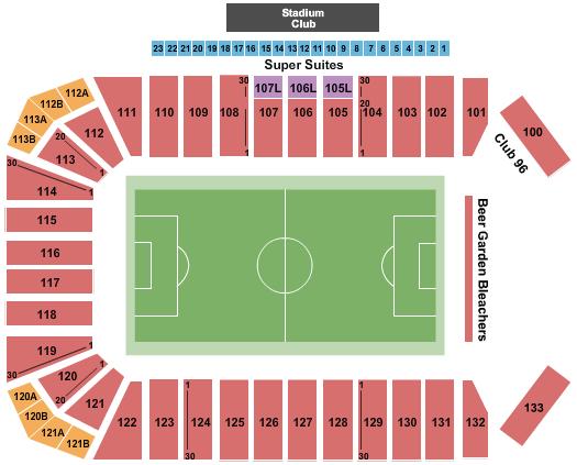 Toyota Stadium Seating Chart