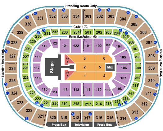 United Center Seating Chart