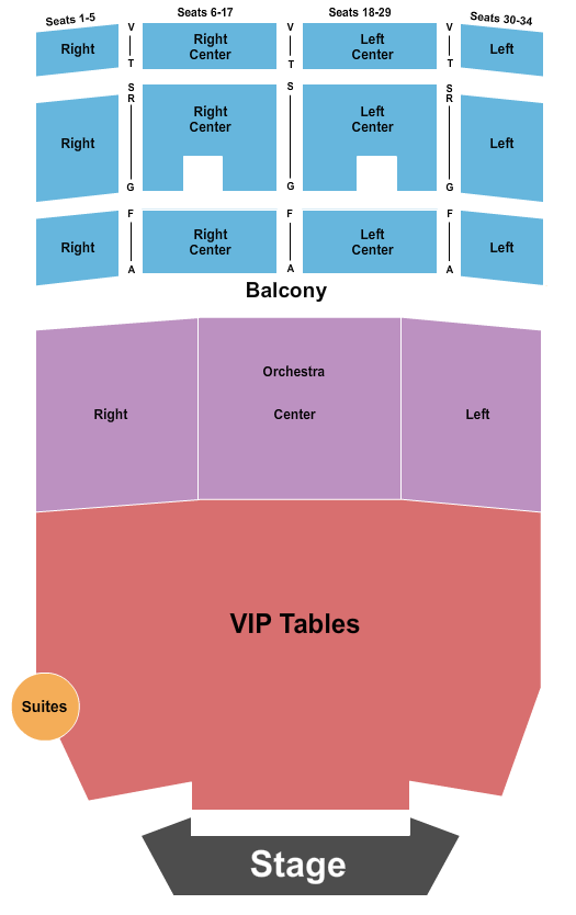 Uptown Theater Seating Chart