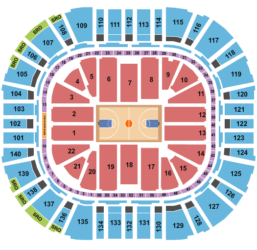 Vivint Smart Home Arena Seating Chart