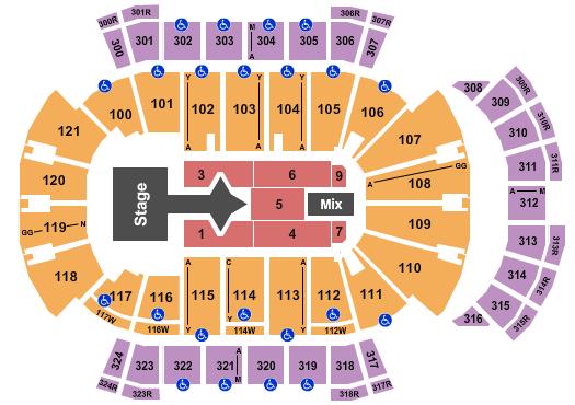 VyStar Veterans Memorial Arena Seating Chart