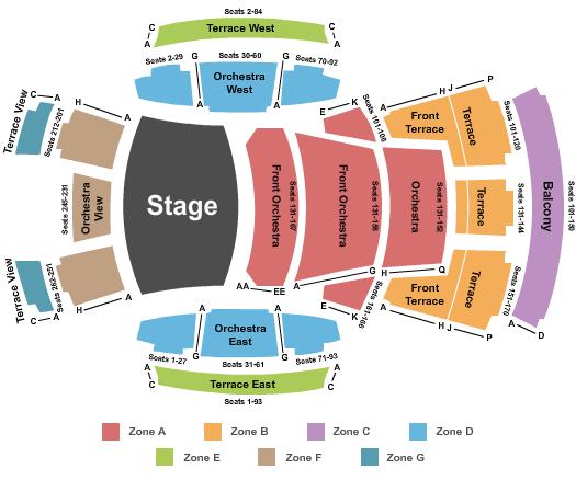 Walt Disney Concert Hall Seating Chart