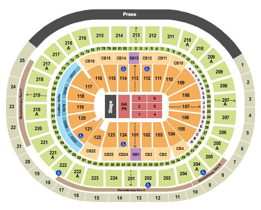 Wells Fargo Center - PA Seating Chart: Dan & Shay