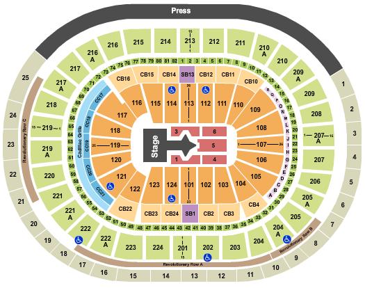 Wells Fargo Center - PA Seating Chart: Justin Bieber