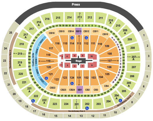Wells Fargo Center Seating Chart