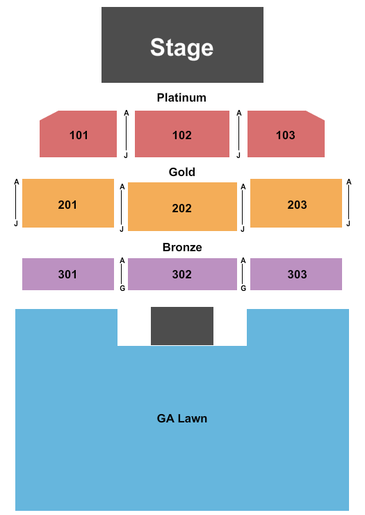 Westside Pavilion at Black Oak Casino Seating Chart