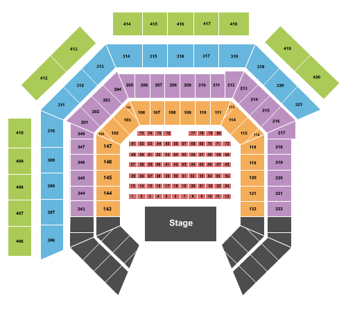 Westville Music Bowl Seating Chart