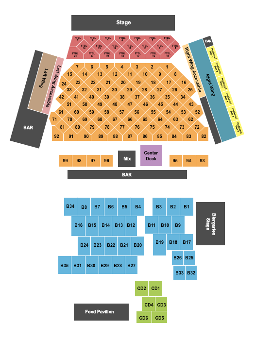 WhiteWater Amphitheater Seating Chart