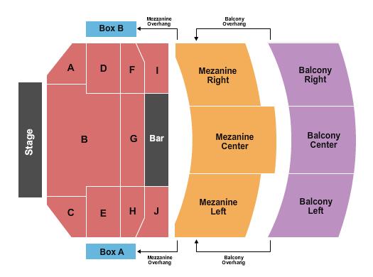Wilbur Theatre Seating Chart