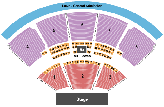 iTHINK Financial Amphitheatre Seating Chart: End Stage