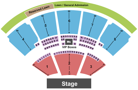 iTHINK Financial Amphitheatre Seating Chart: Distrubed
